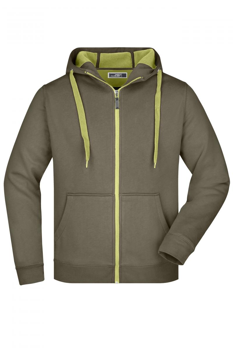 Men´s Doubleface Jacket - olive / lime-green