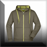 Men´s Doubleface Jacket - olive / lime-green